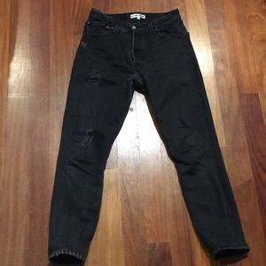 Levi's Re/Done Denim in high waist jean